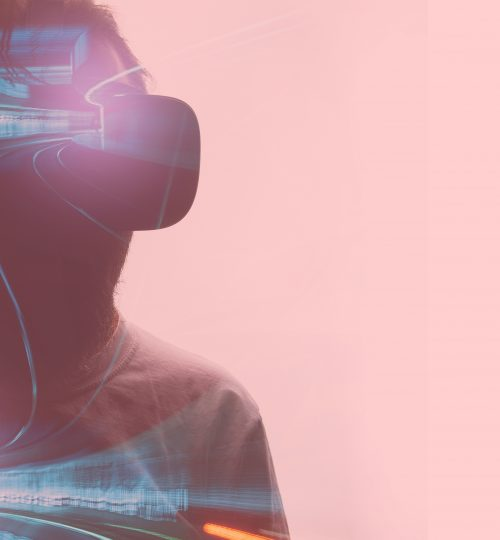Double exposure  with virtual glasses